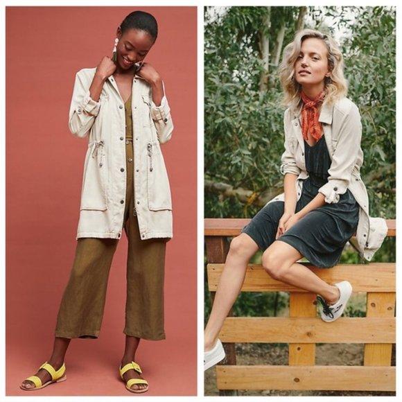 Anthropologie Jackets & Blazers - Anthropologie Sunday Anorak Jacket Cream Tan L